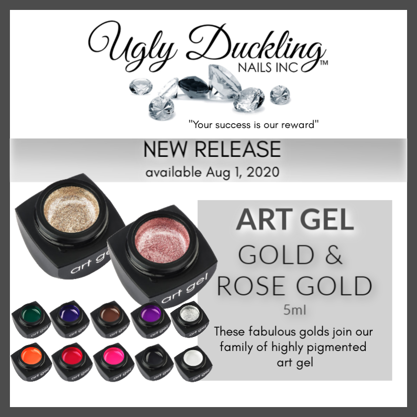 NEW Ugly Duckling Art Gel Gold & Rose Gold