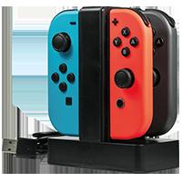 Oplaadstation voor 4 controllers voor Nintendo Switch
