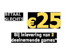 Betaal slechts €25 voor FIFA 22 op PS4 of Xbox One bij inlevering van 2 deelnemende games