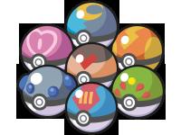 Selectie aan Poké Balls