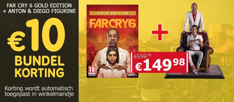 Koop Far Cry 6 Gold Edition samen met de figurine van Anton & Diego en ontvang 10 euro bundelkorting
