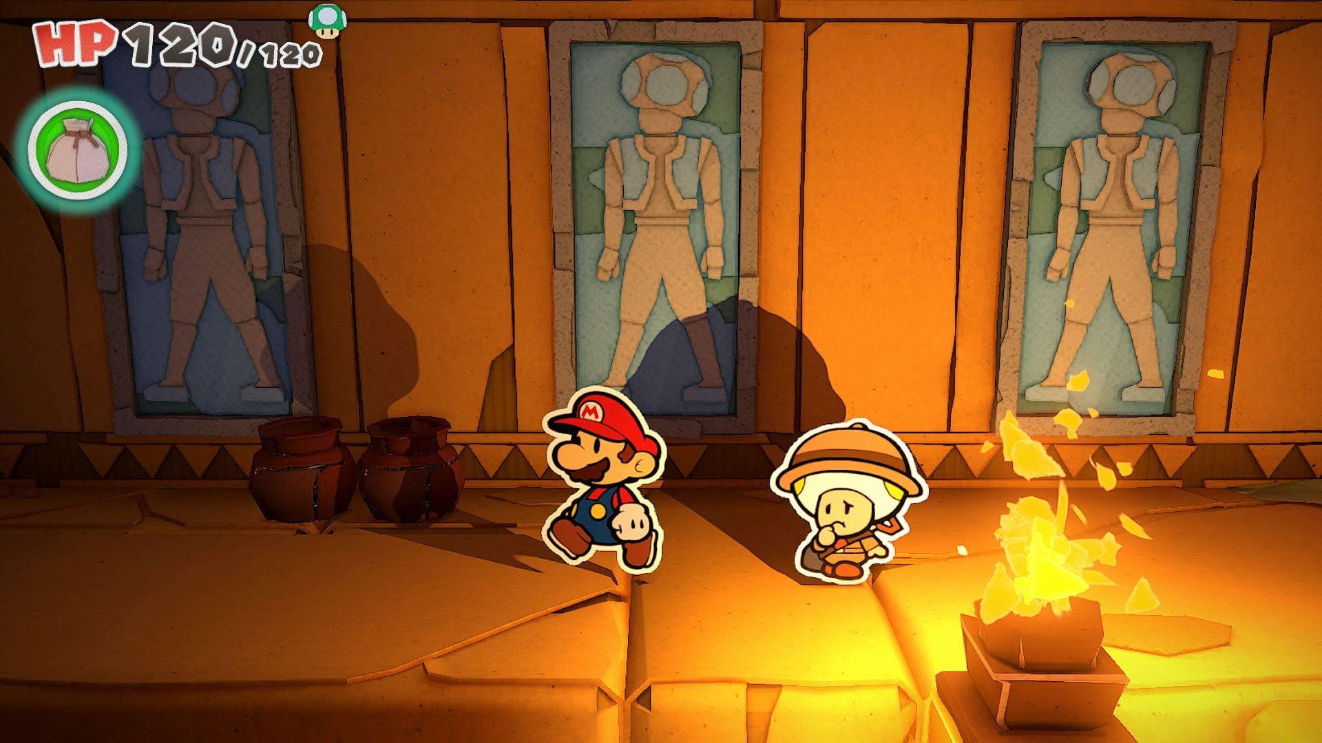 Screenshot van Paper Mario: The Origami King