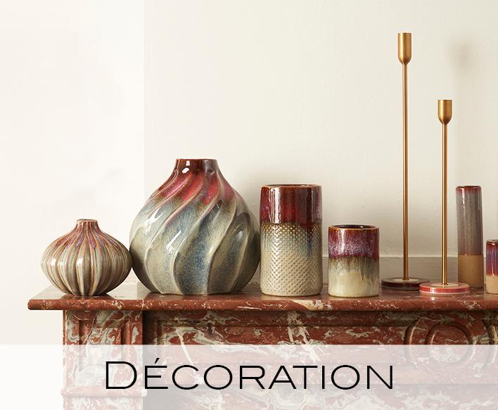 déco, decoration, vases, photophores, lanternes, accessoires, plateaux, paniers, crochets, cintres