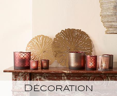 déco, décoration, photophores, lanternes, accessoires, plateaux, paniers, crochets, cintres