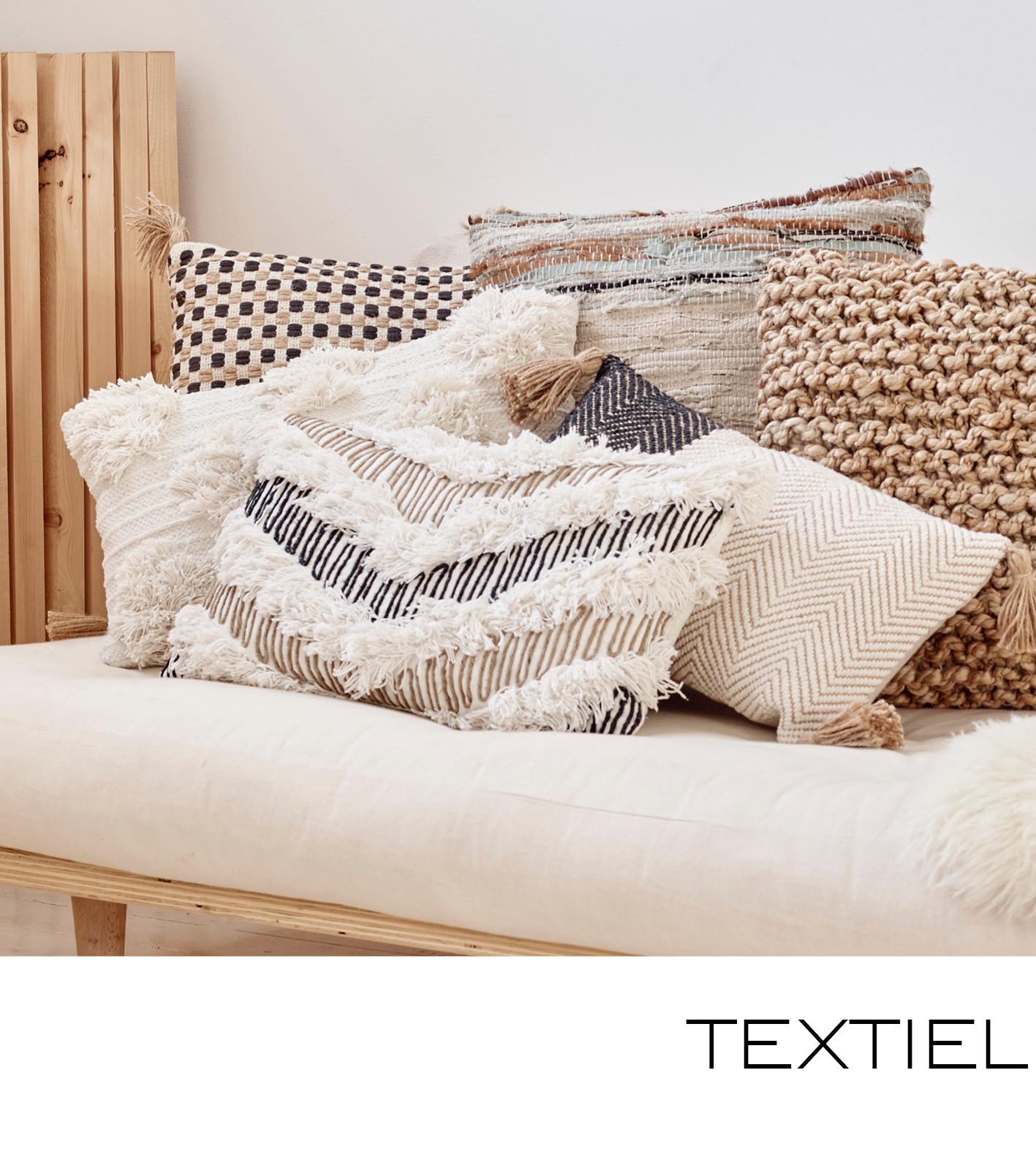 textiel, kussens, plaids