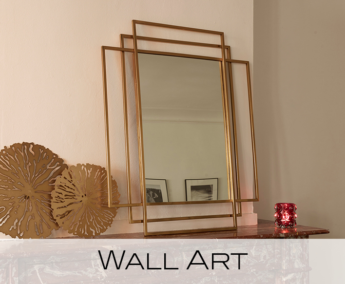 wall art, mirrors