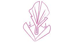 Servet vouwen Trendy Rose stap 5