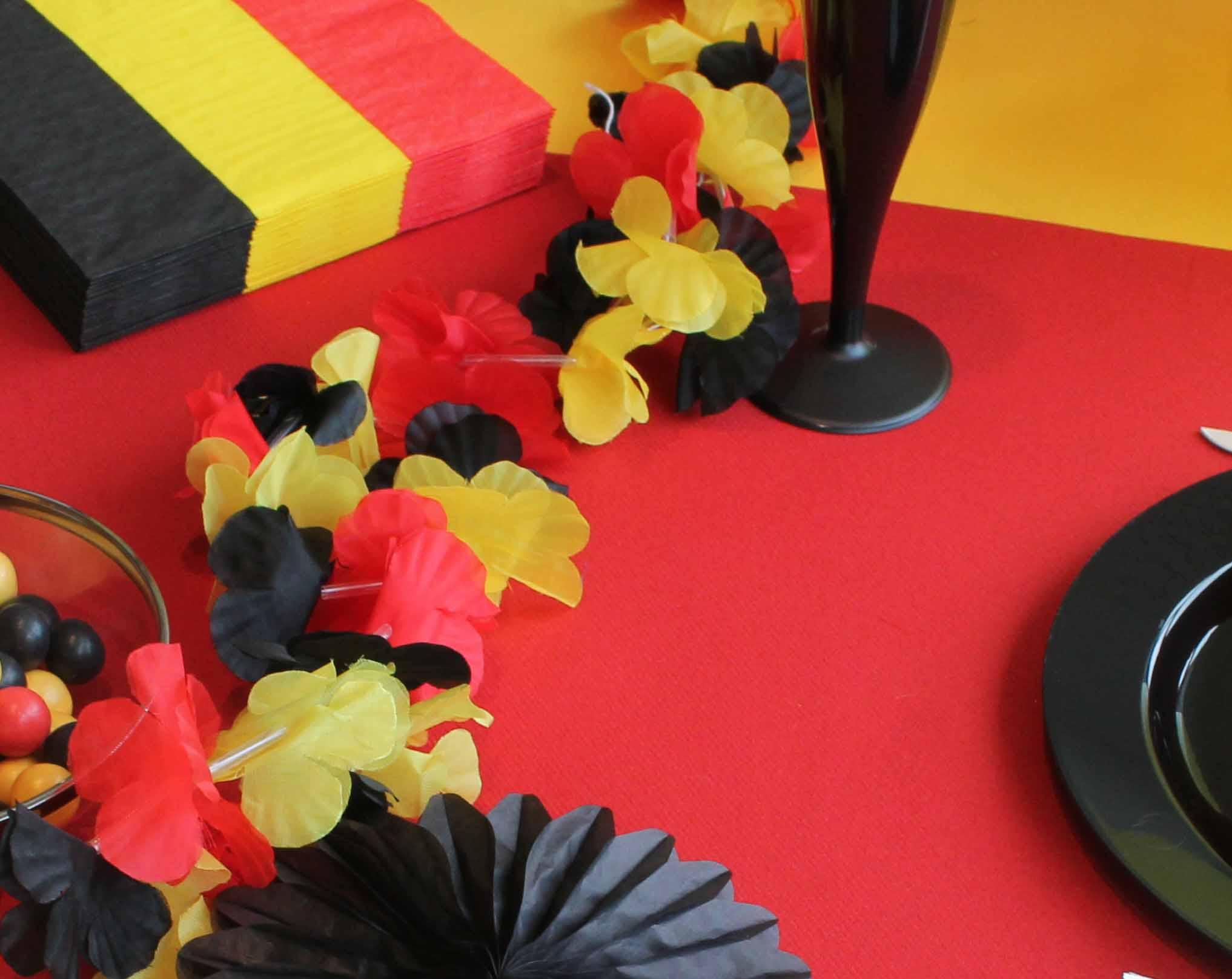 tafelversiering in Belgische driekleur