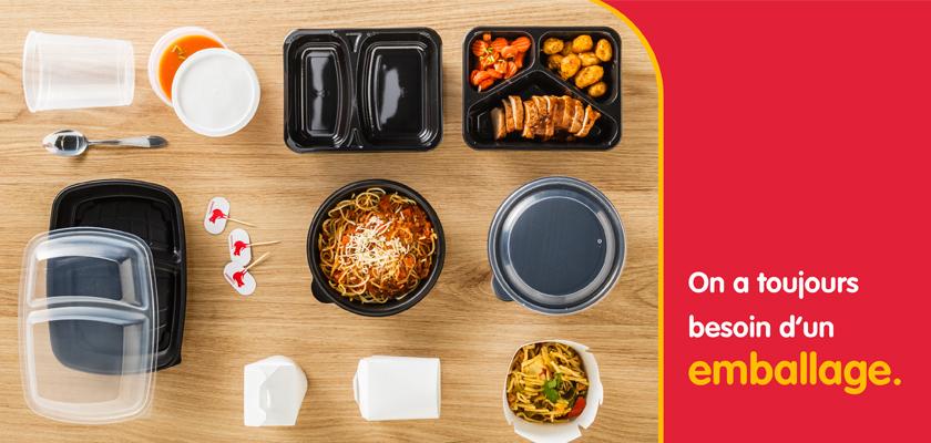 Matériel d'emballage pour la nourriture à grande échelle