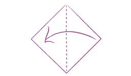 Vouwtechniek Bohemian stap 1