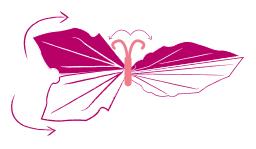 plier une serviette en papillon festif étape 5