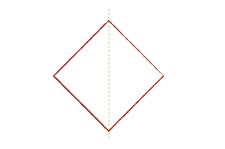 Vouwtechniek piramide stap 1
