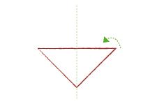 Vouwtechniek de piramide stap 2
