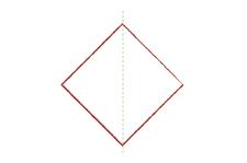 Vouwtechniek de piramide stap 3