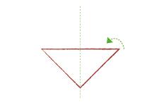 Vouwtechniek de piramide stap 4