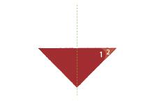 Vouwtechniek de piramide stap 5