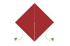 Vouwtechniek de piramide stap 6