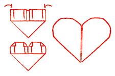 Vouwtechniek het hart stap 4