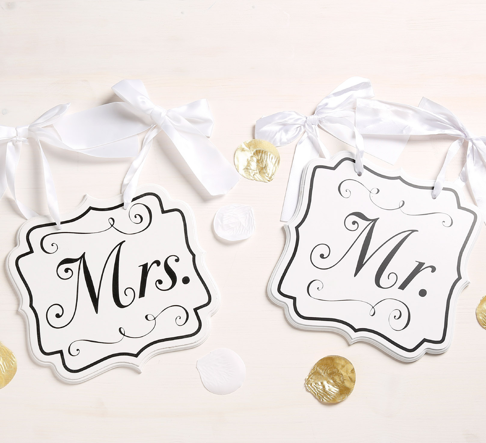 decoratie trouwfeest Mr en Mrs