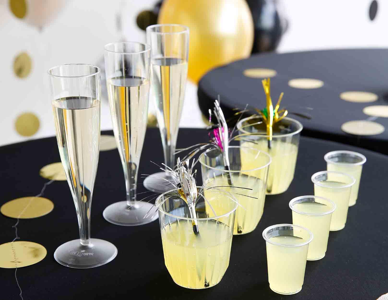 nieuwjaarsreceptie glazen