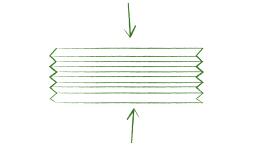 Vouwtechniek vogelnestje stap 2