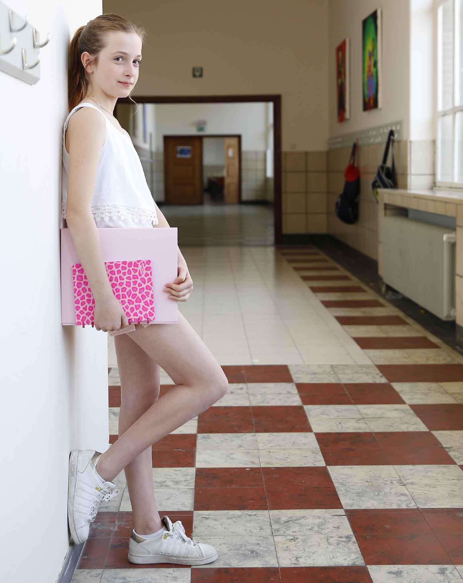 schoolgerief pastel roze