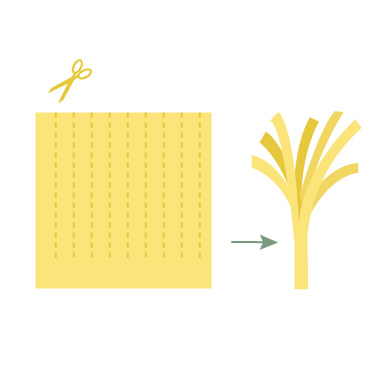 Vouwtechniek de ananas stap 5