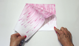 Vouwtechniek de grote vlinder stap 2
