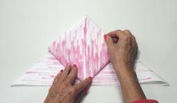 Vouwtechniek de grote vlinder stap 7