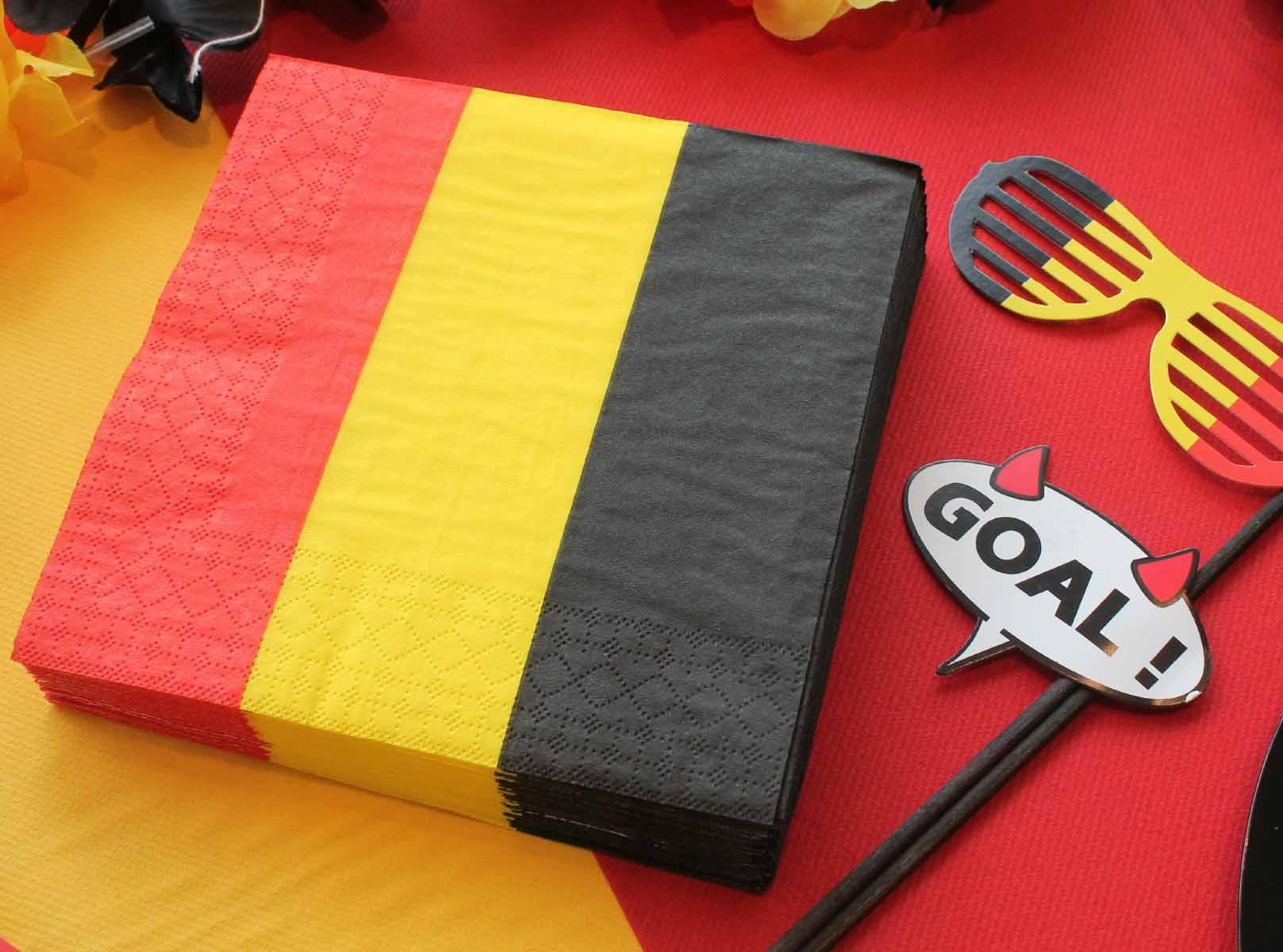 servietten Belgische vlag