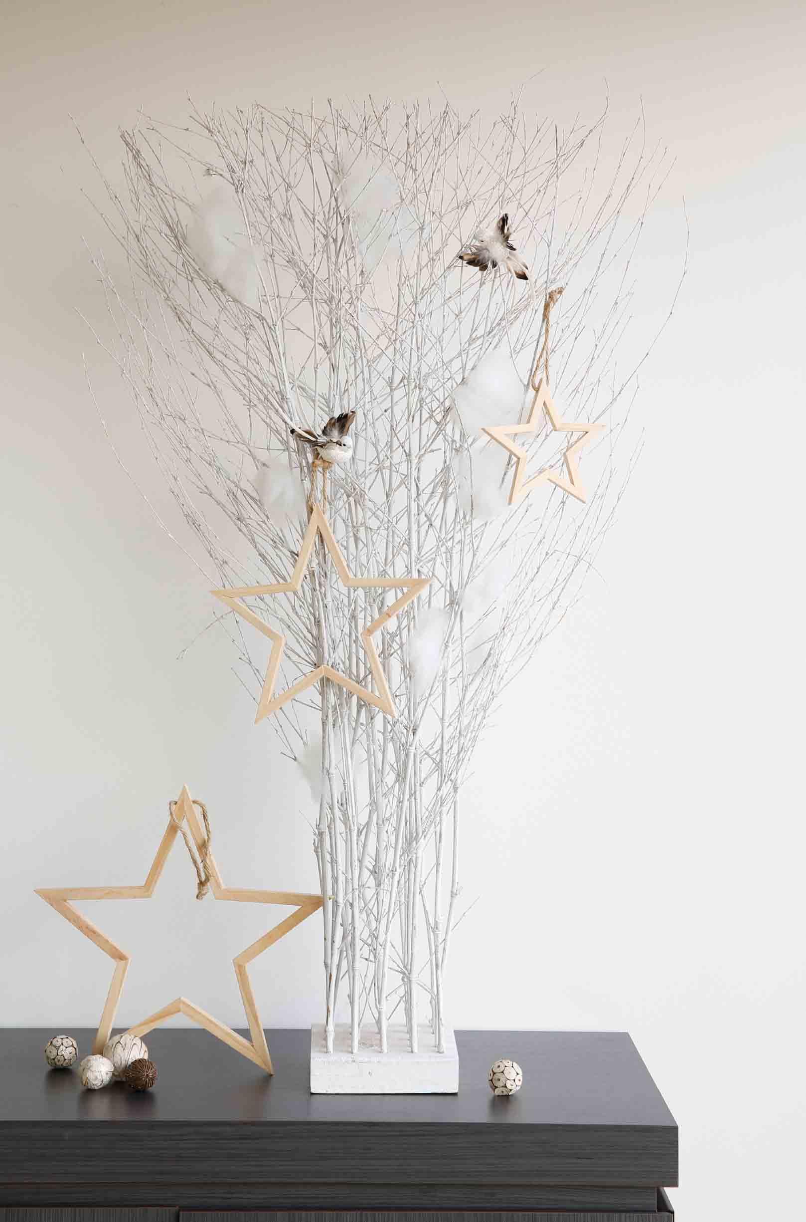 takken als kerstboom