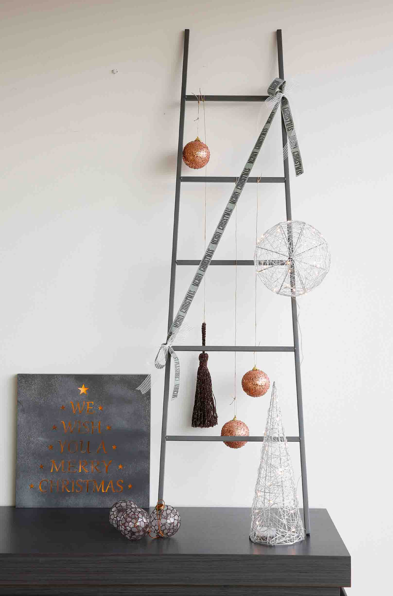 ladder als kerstboom