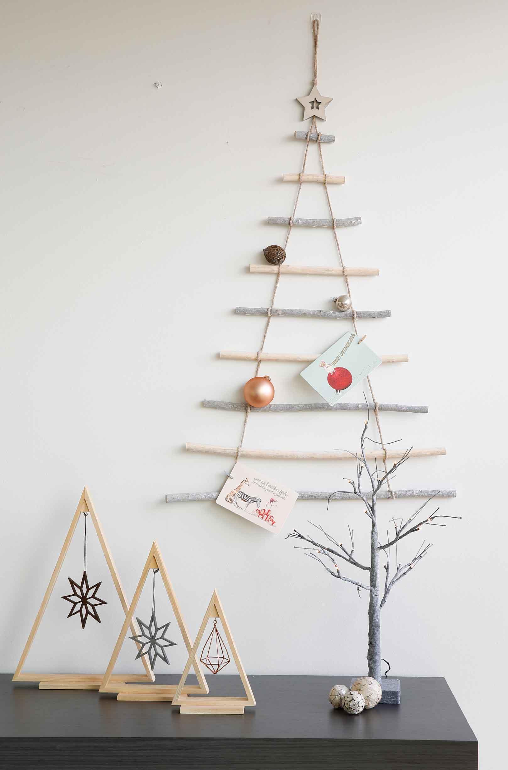 horizontale takken als kerstboom