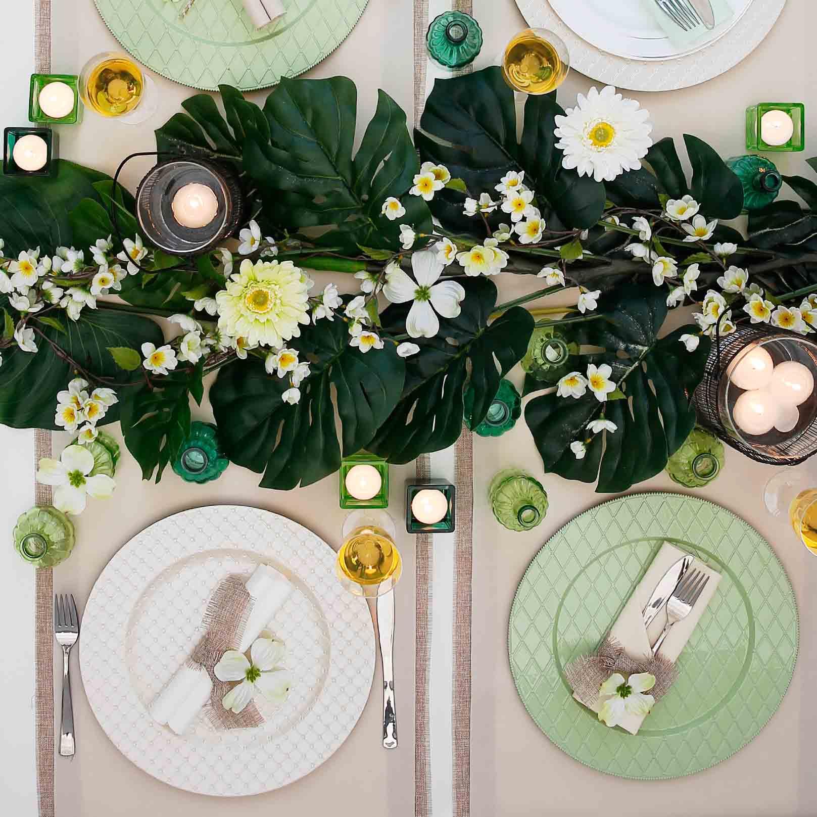 décoration de table printemps