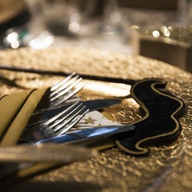 nieuwjaarsreceptie aan tafel