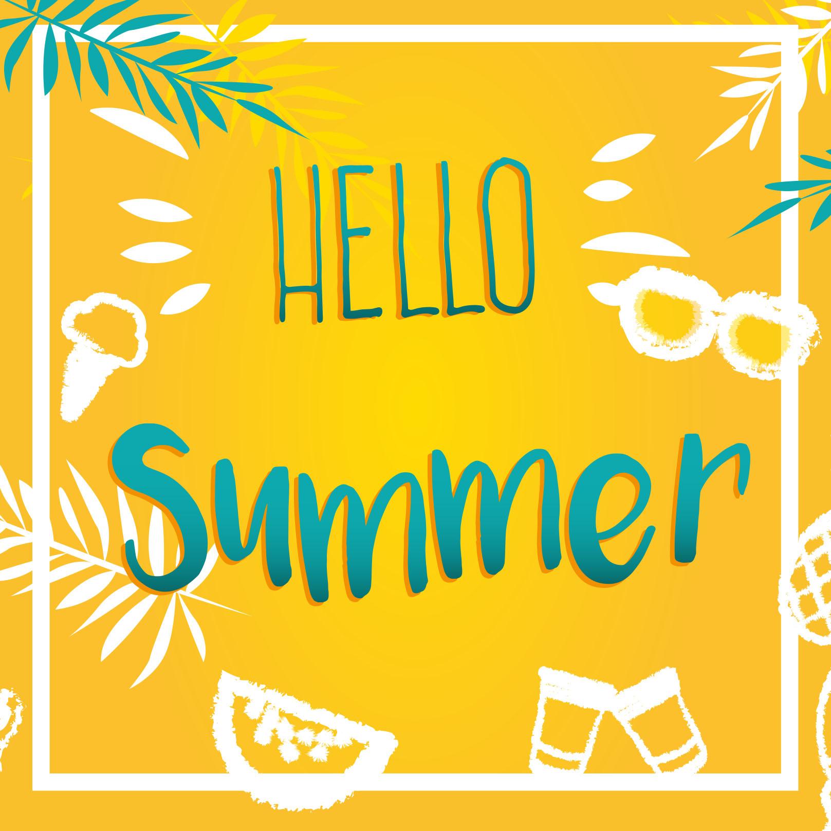 feest in de zomer