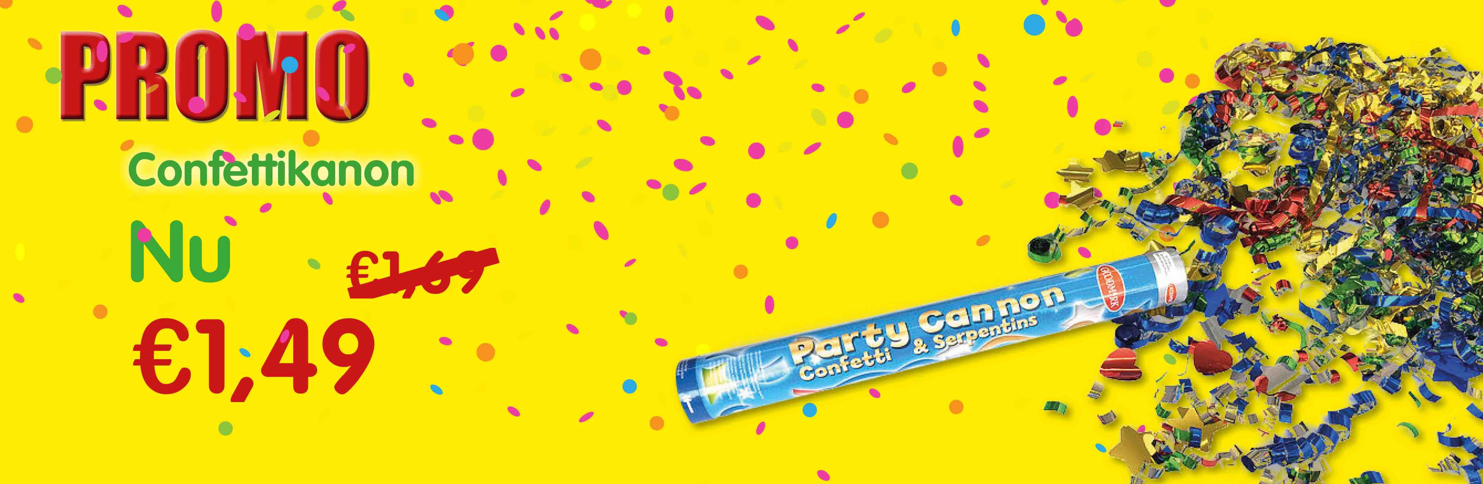 Promo confetti kanon