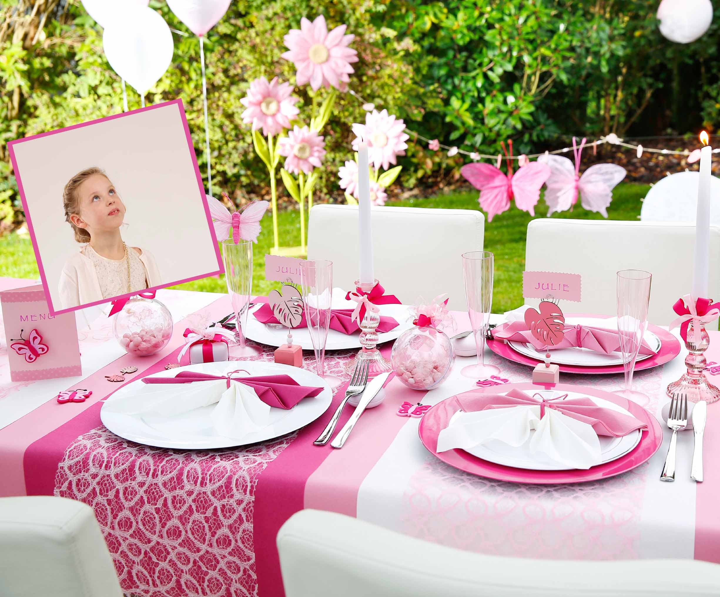 Mijn communie of lentefeest wordt een fantastisch feest ava - Decoration de table pour communion fille ...