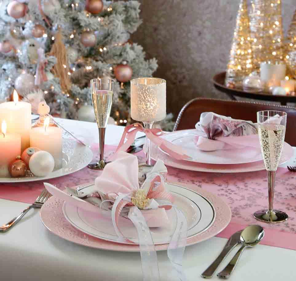 roze tafelbekleding