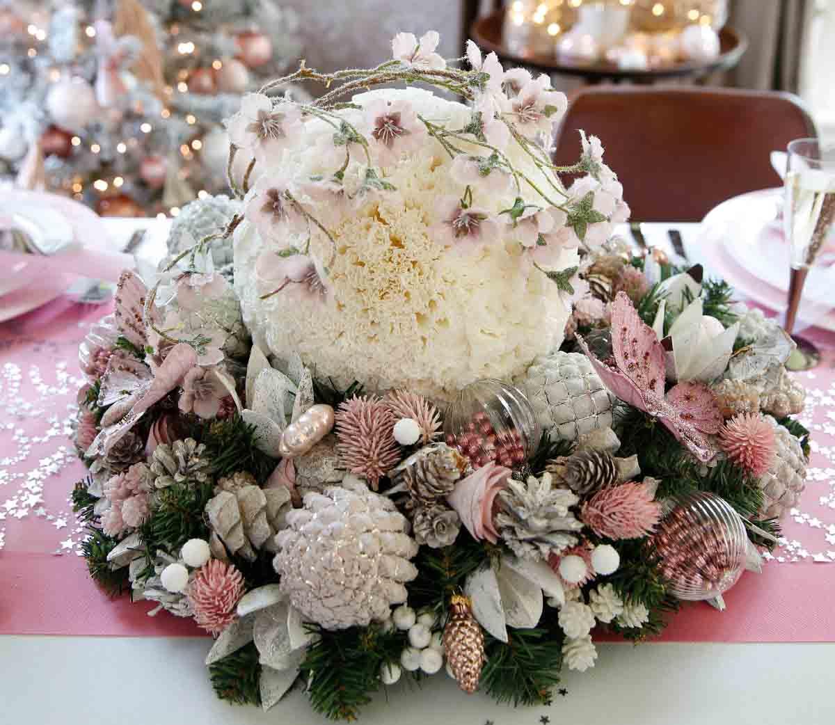 bloemstuk in roze