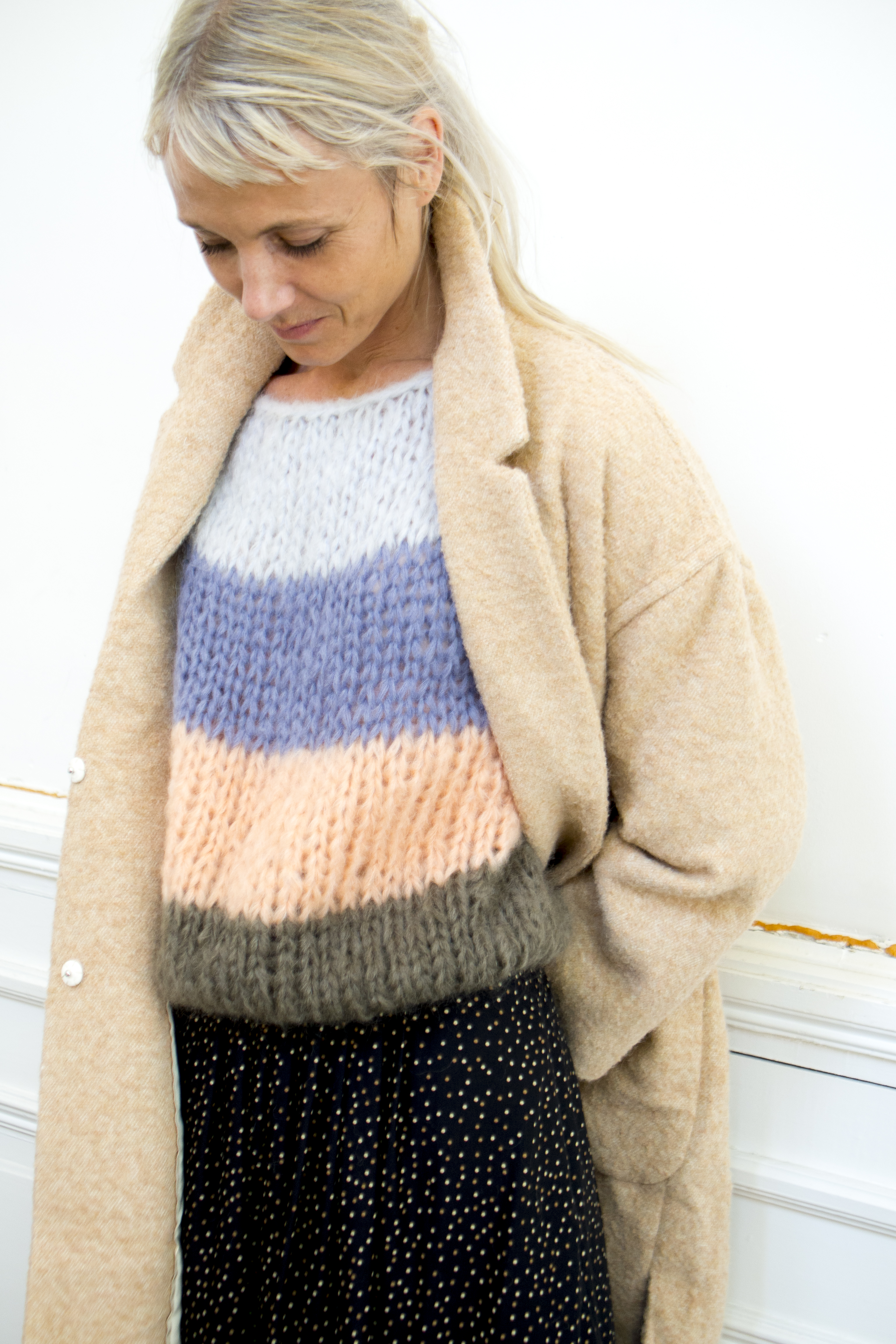 maiami mohair big sweater, enchantee skirt vanessa seward