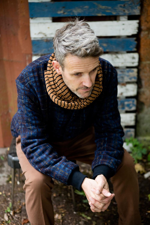 homecore jacket, ami pants and barena venezia scarf