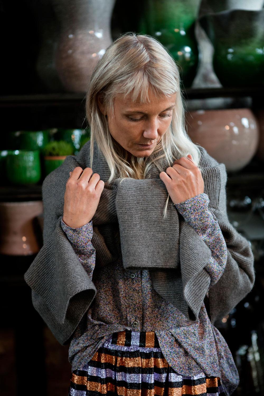 Isabel Marant Étoile blouse, Aiayu knit, Momoni skirt