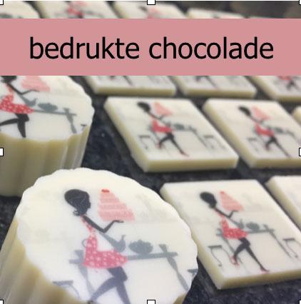 bedrukte chocolade
