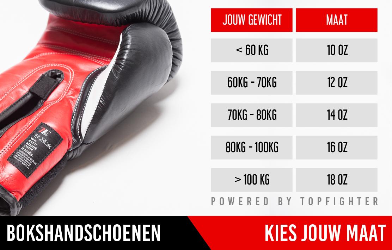 Kies de juiste maat van bokshandschoenen