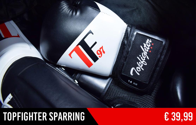 De Topfighter Bokshandschoenen Sparring zijn dé oplossing voor iedere beginnende atleet