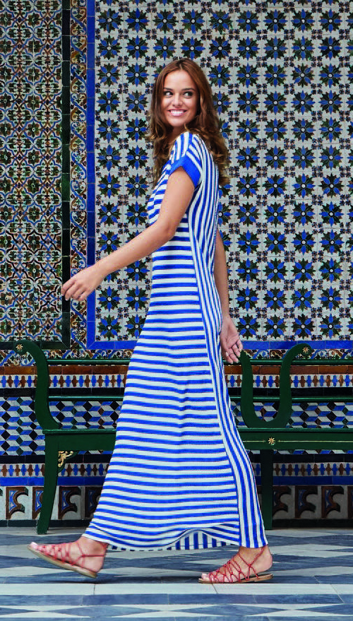 Giovane Blue striped dress