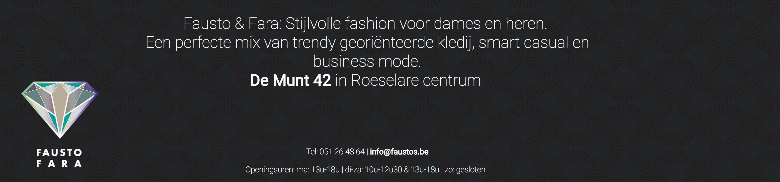 Fausto Fara stijlvolle fashion voor dames en heren De Munt Roeselare