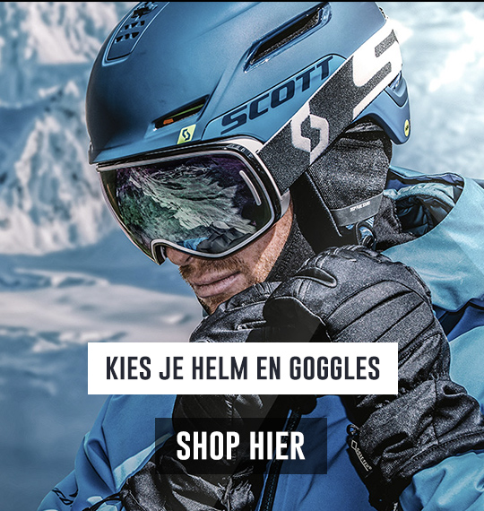 kies je helm en goggle