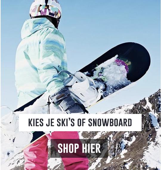 kies je ski's of snowboard